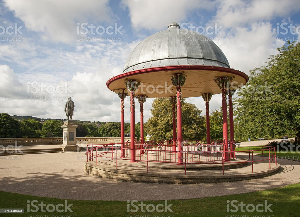 victorian bandstand stock photo