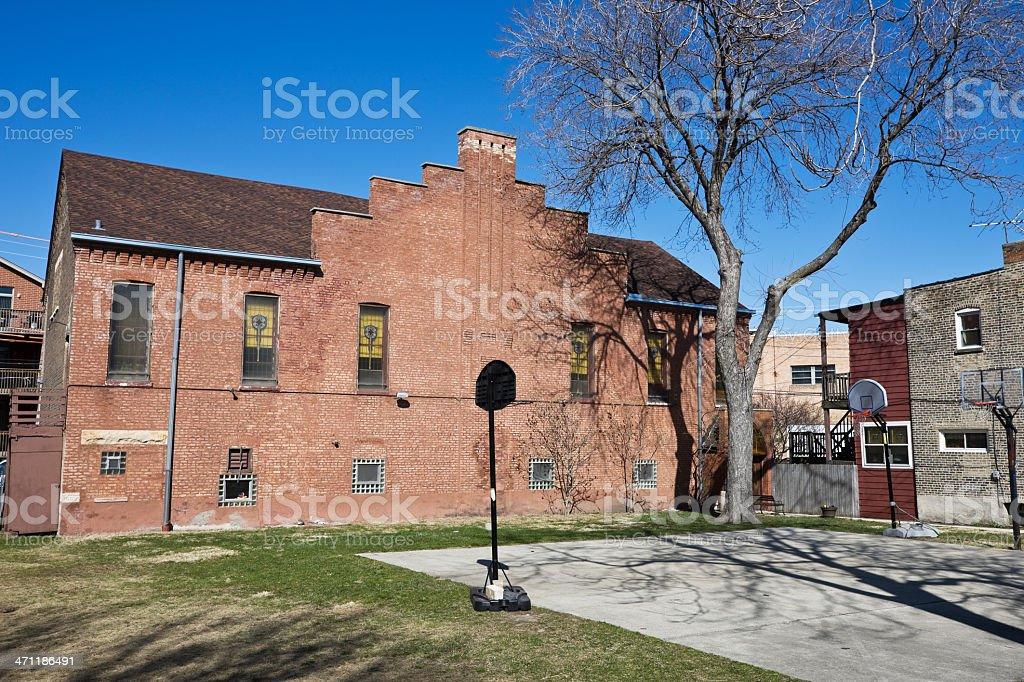 Victorian Baptist Church in Chicago stock photo