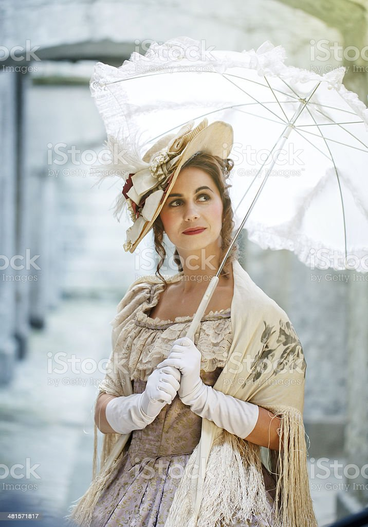 Victorian beauty stock photo
