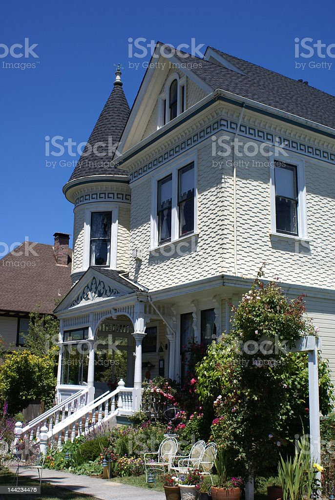 victorian bed and breakfast royalty-free stock photo