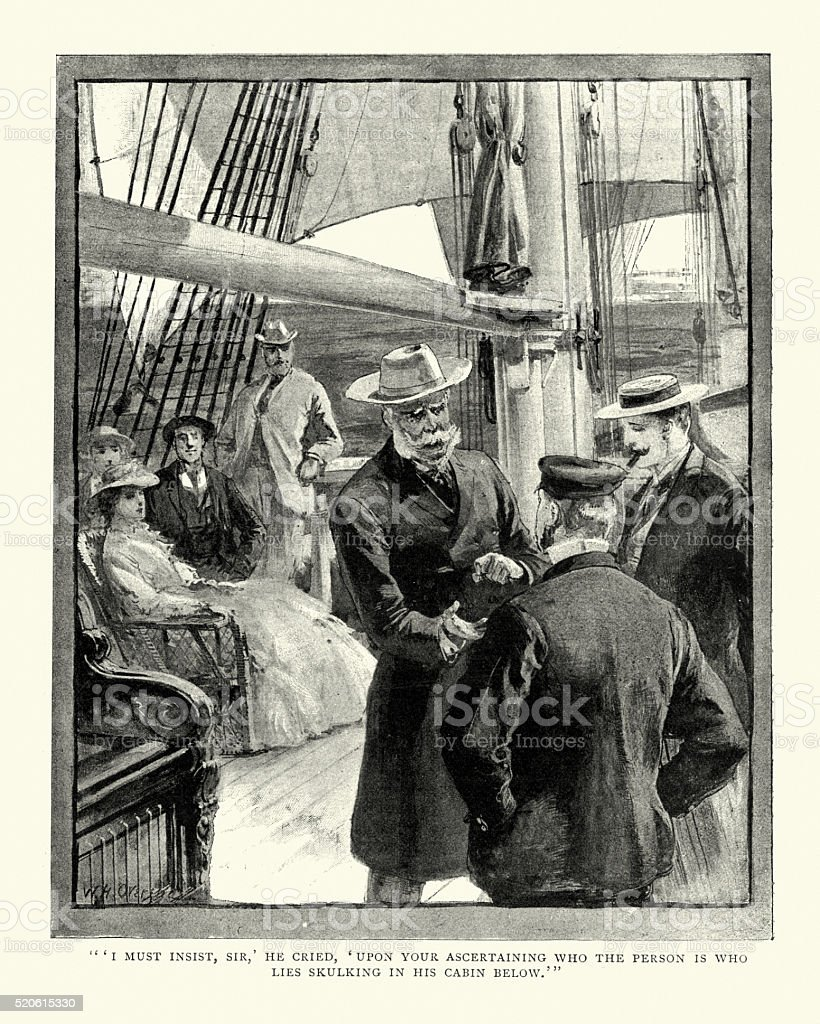 Victorian boat trip stock photo