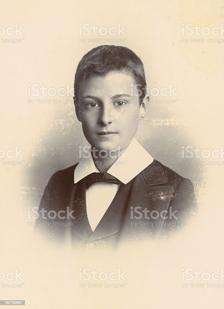Victorian boy vintage photograph royalty-free stock photo