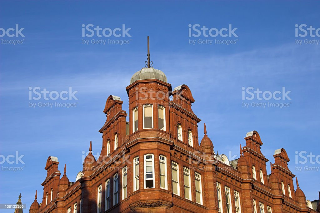 Victorian Brick architecture stock photo
