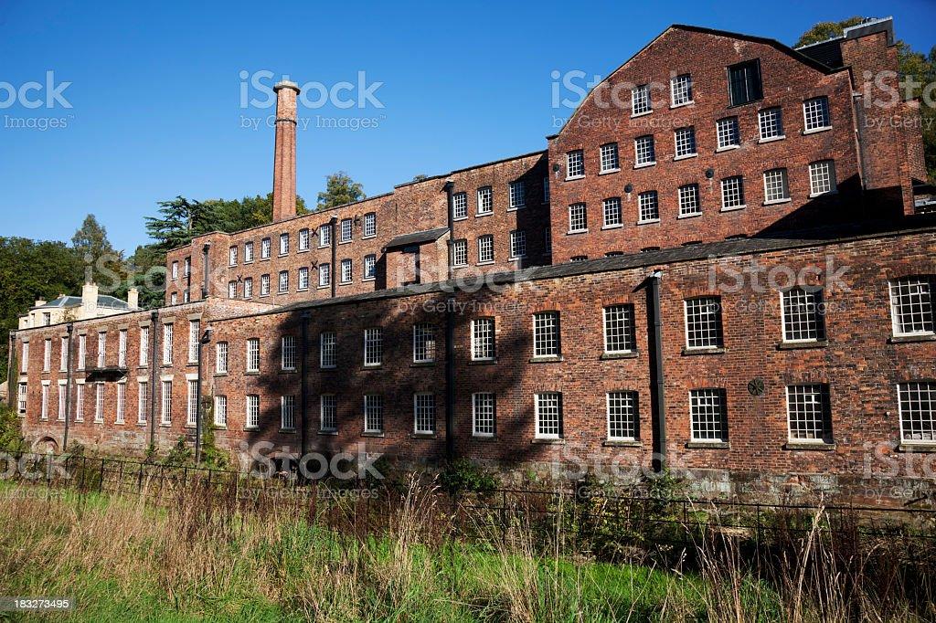 A Victorian brick built cotton mill stock photo