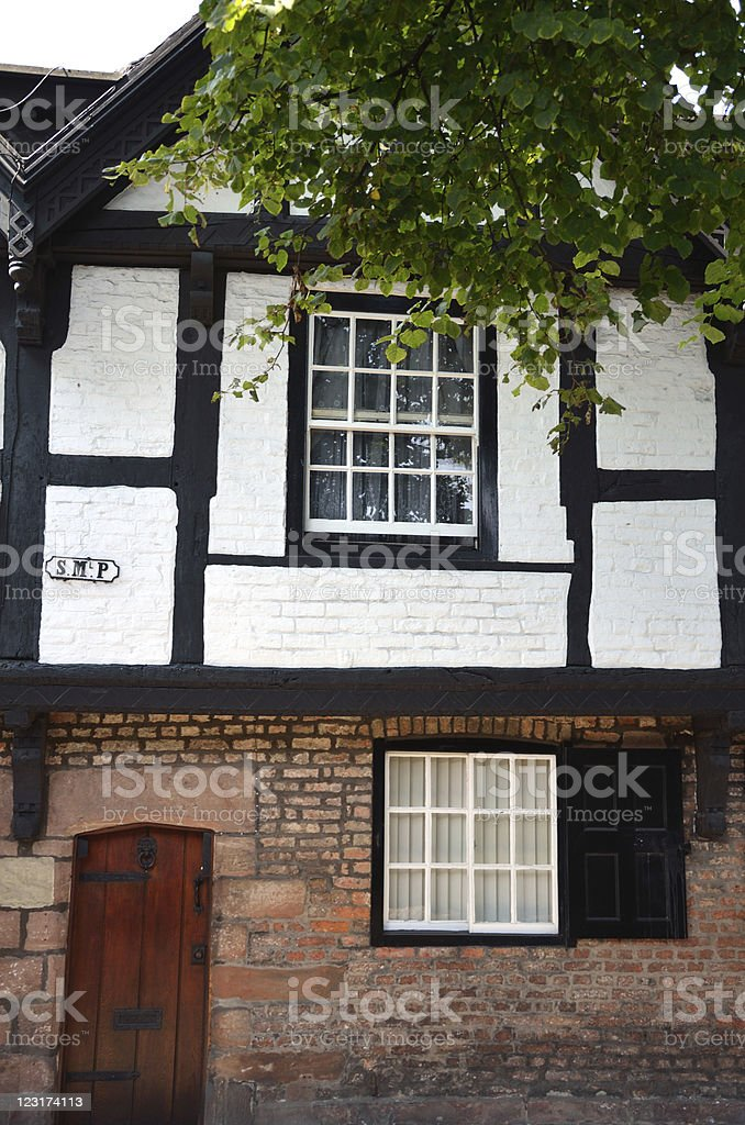 Victorian Buildings in Chester City royalty-free stock photo