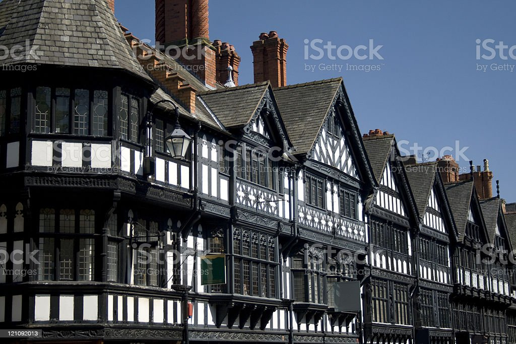 Victorian Buildings on St Werburgh Street in Chester City Centre royalty-free stock photo