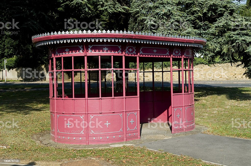 victorian Bus Shelter stock photo