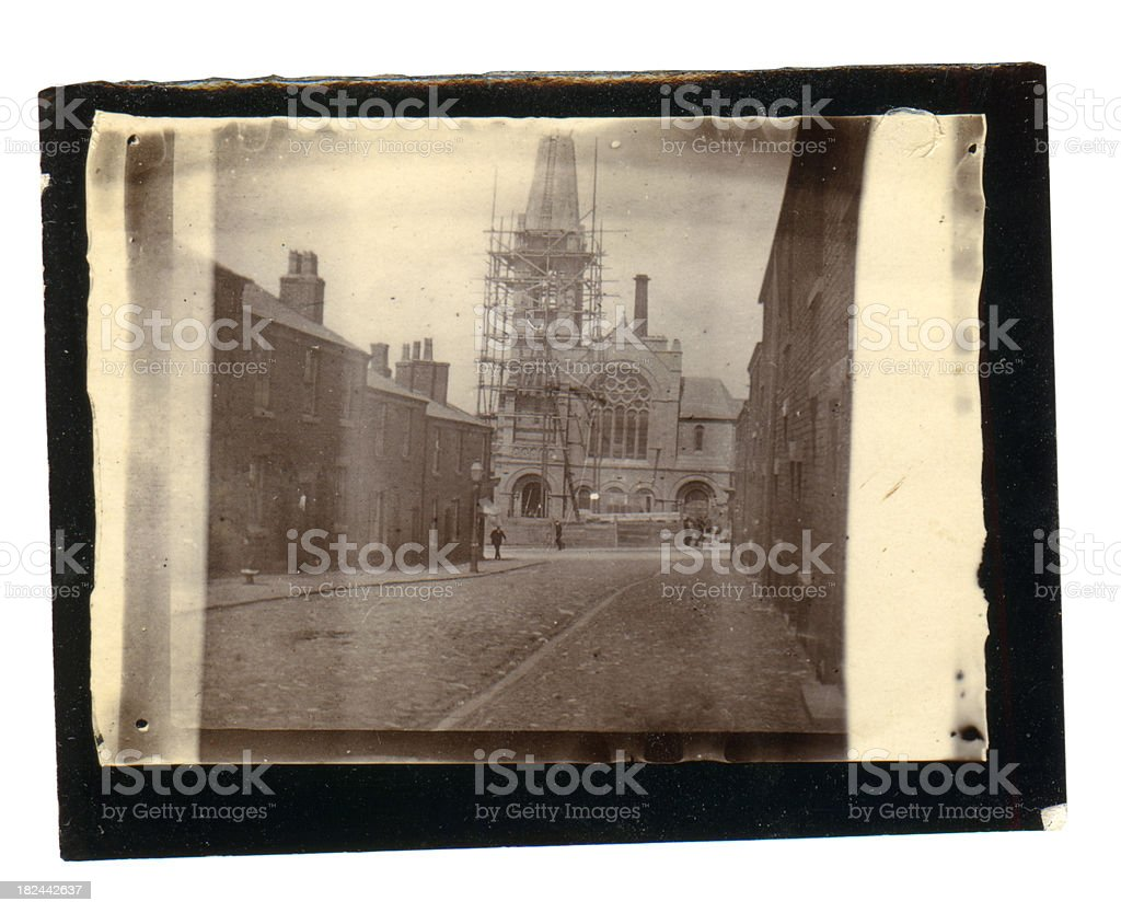 Victorian Church - Old Photograph royalty-free stock photo