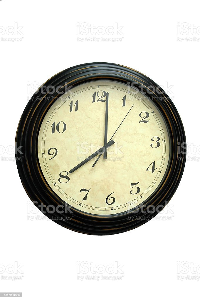 Victorian Clock royalty-free stock photo