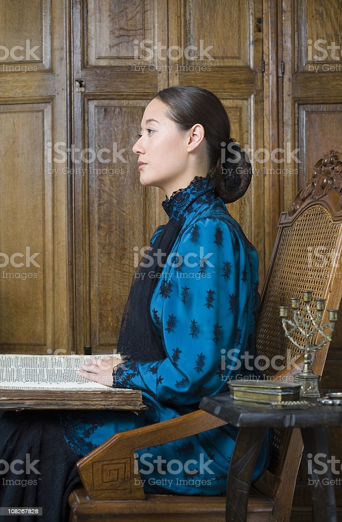 Victorian colonial portrait royalty-free stock photo