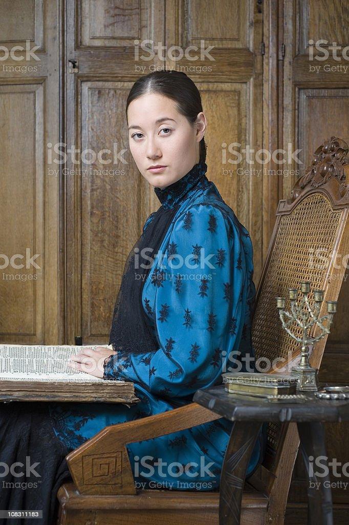 Victorian colonial portrait stock photo