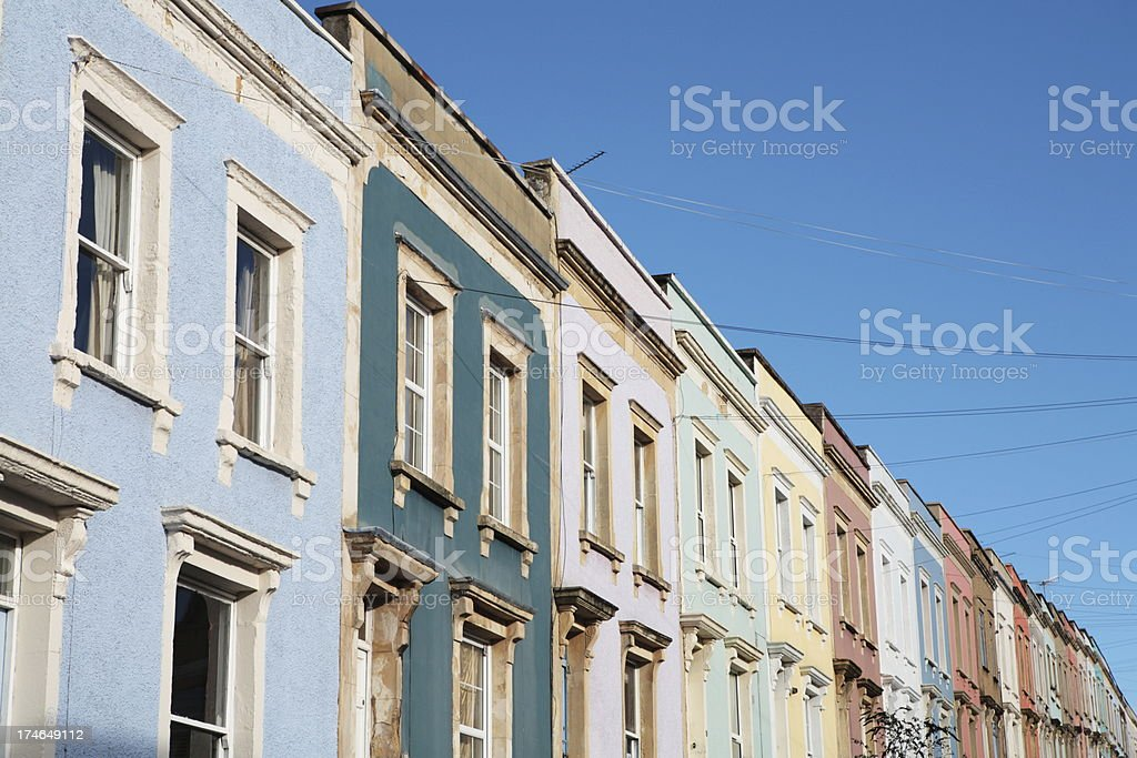 Victorian Coloured Houses royalty-free stock photo