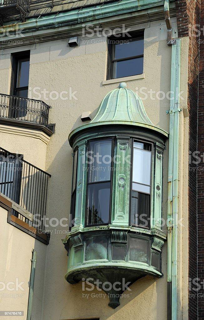 Victorian Copper Oriel Window stock photo