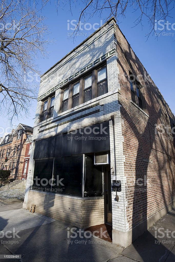 Victorian Corner Shop in Pullman, Chicago royalty-free stock photo