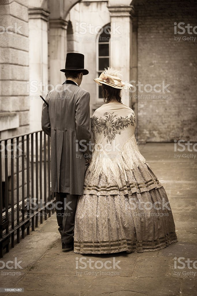 Victorian couple stock photo
