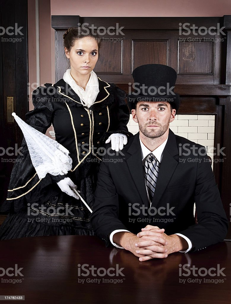 Victorian Couple royalty-free stock photo
