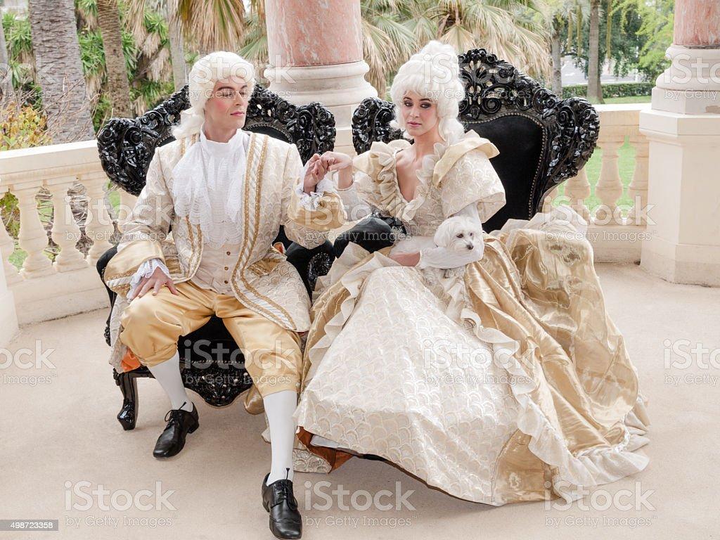 Victorian Couple stock photo
