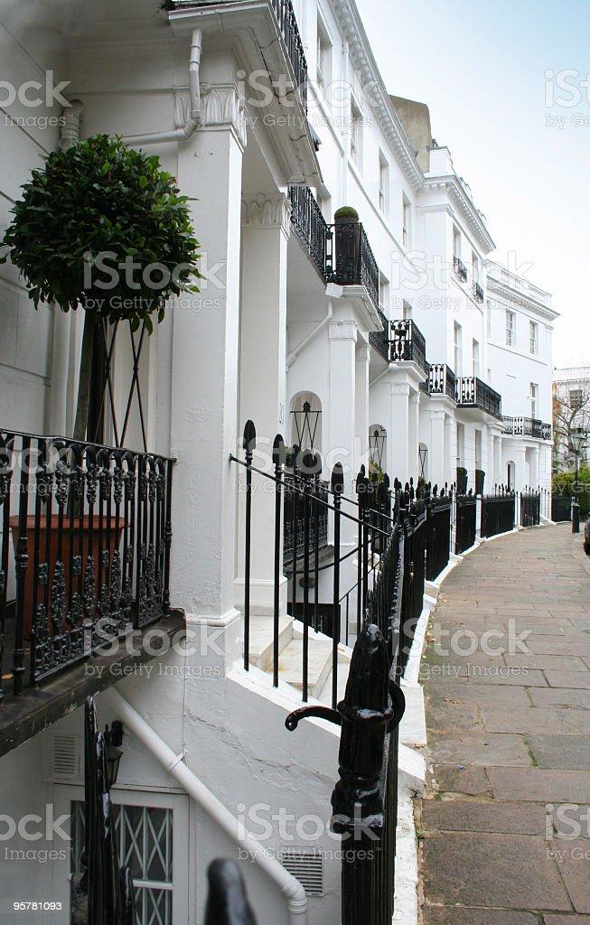 Victorian crescent, Kensington, London royalty-free stock photo