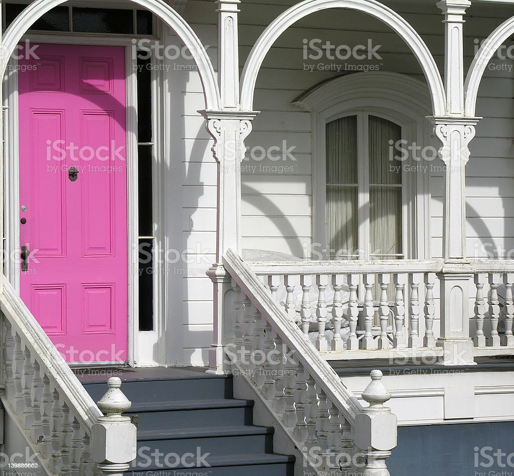 Victorian door stock photo
