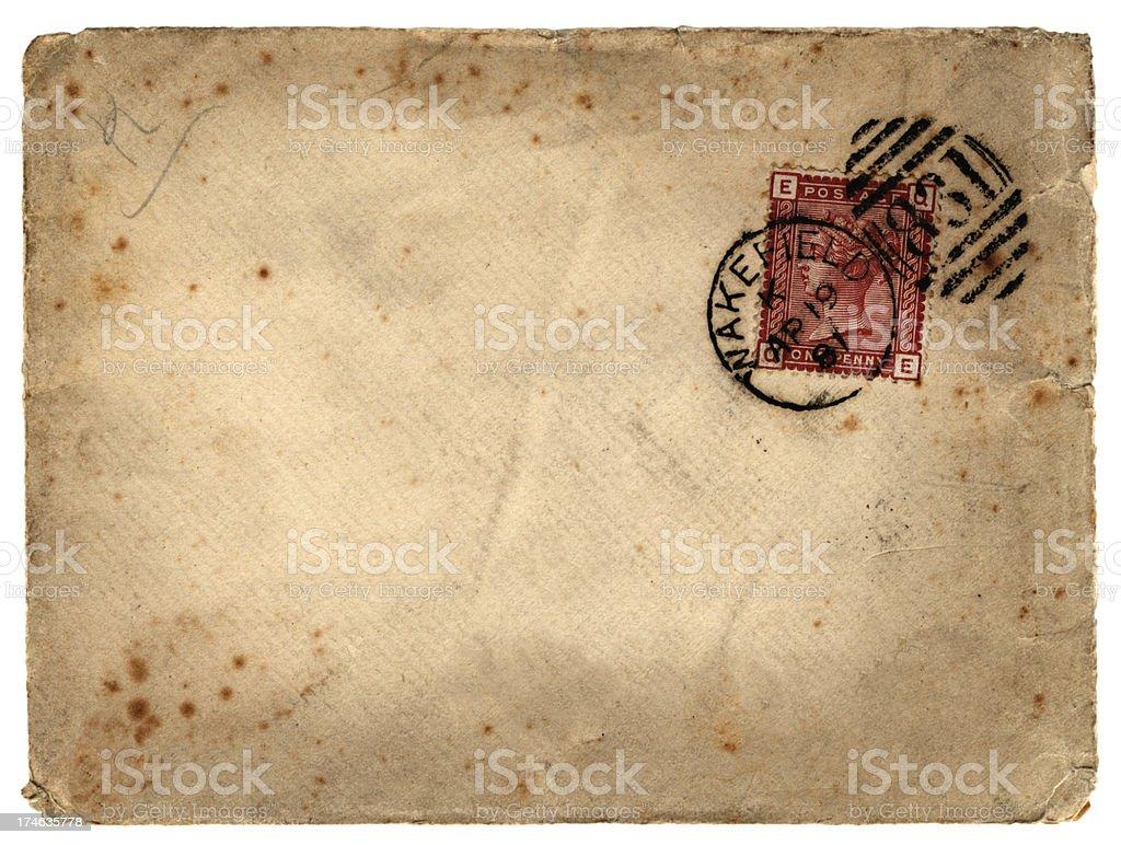 Victorian envelope 1891 royalty-free stock photo