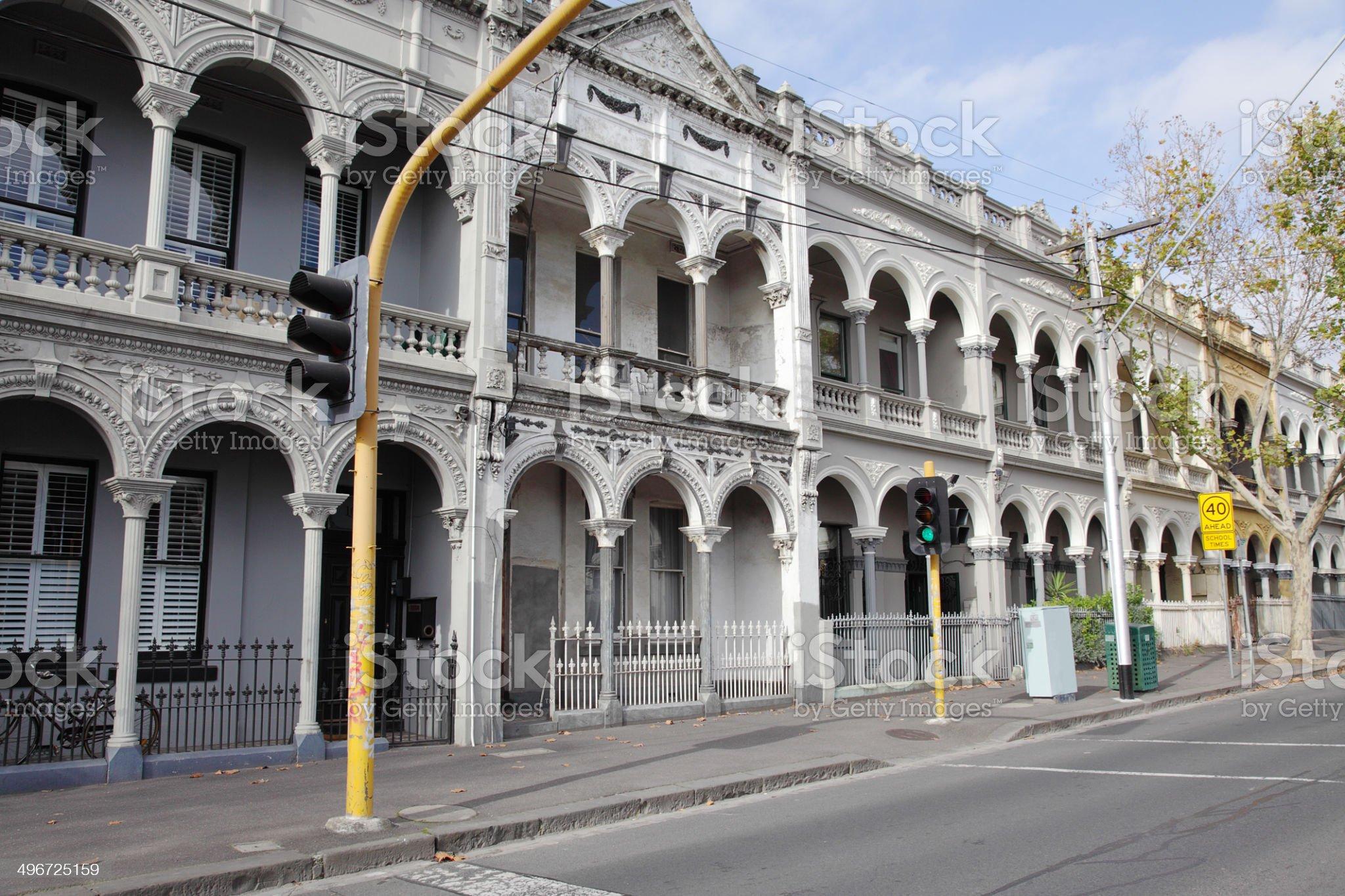 Victorian era Italianate architecture royalty-free stock photo