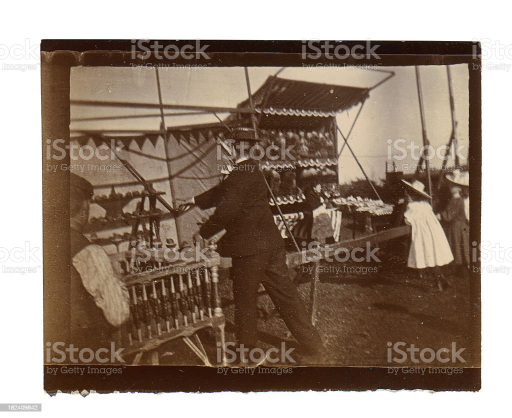 Victorian Fair - Coconut Shy royalty-free stock photo
