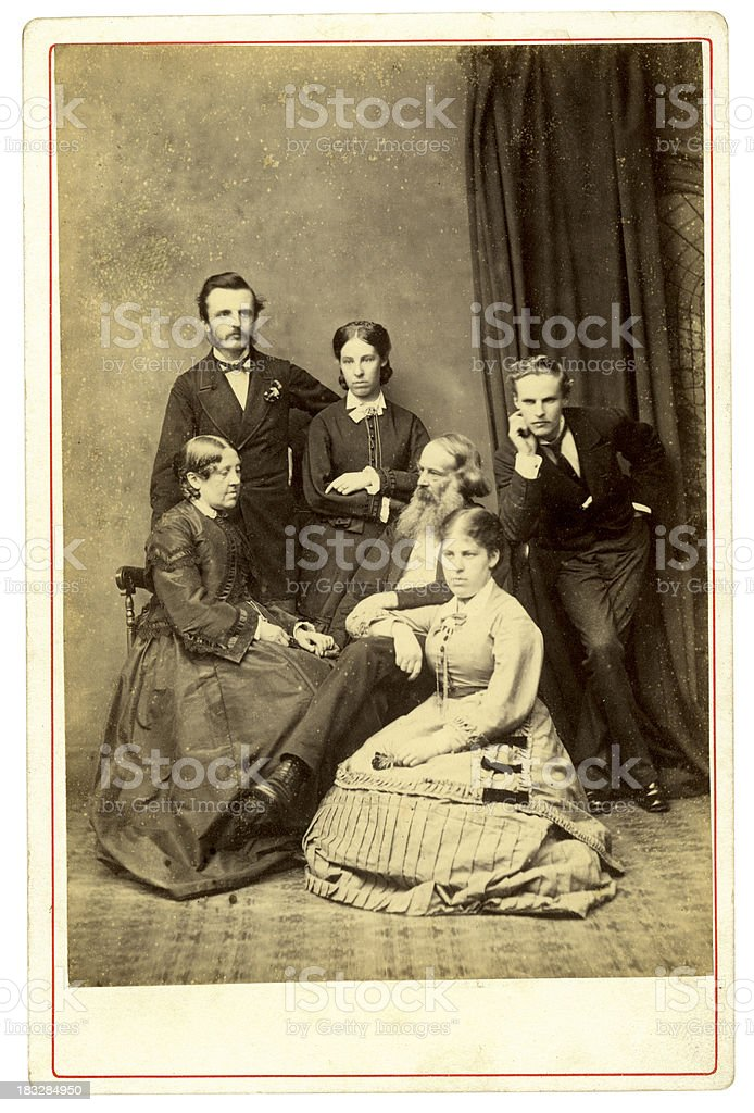 Victorian Family Portrait royalty-free stock photo