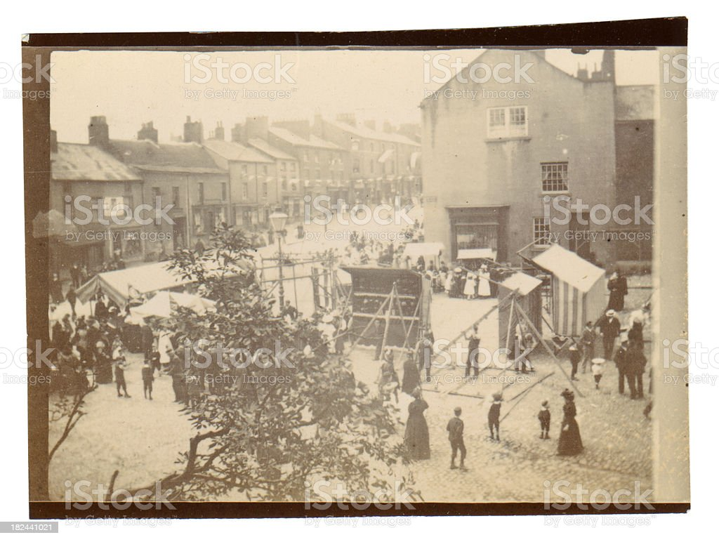 Victorian Fete London - Old Photograph royalty-free stock photo
