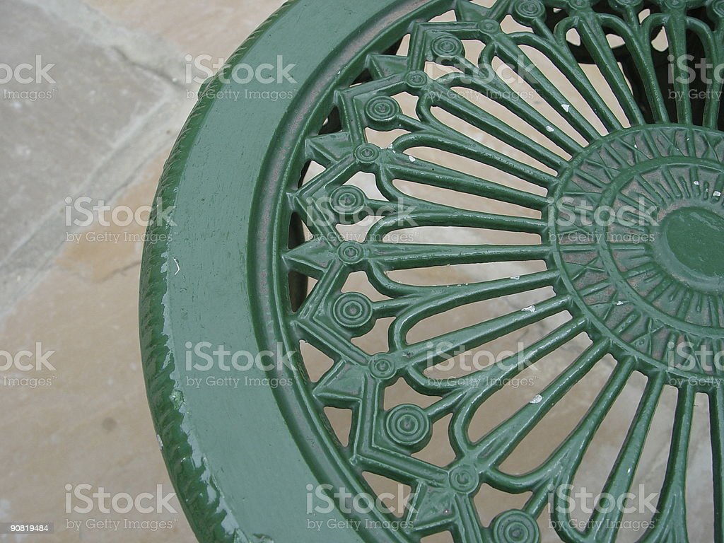 Victorian Garden Chair stock photo