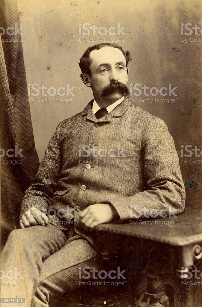 Victorian Gentleman vintage photograph royalty-free stock photo
