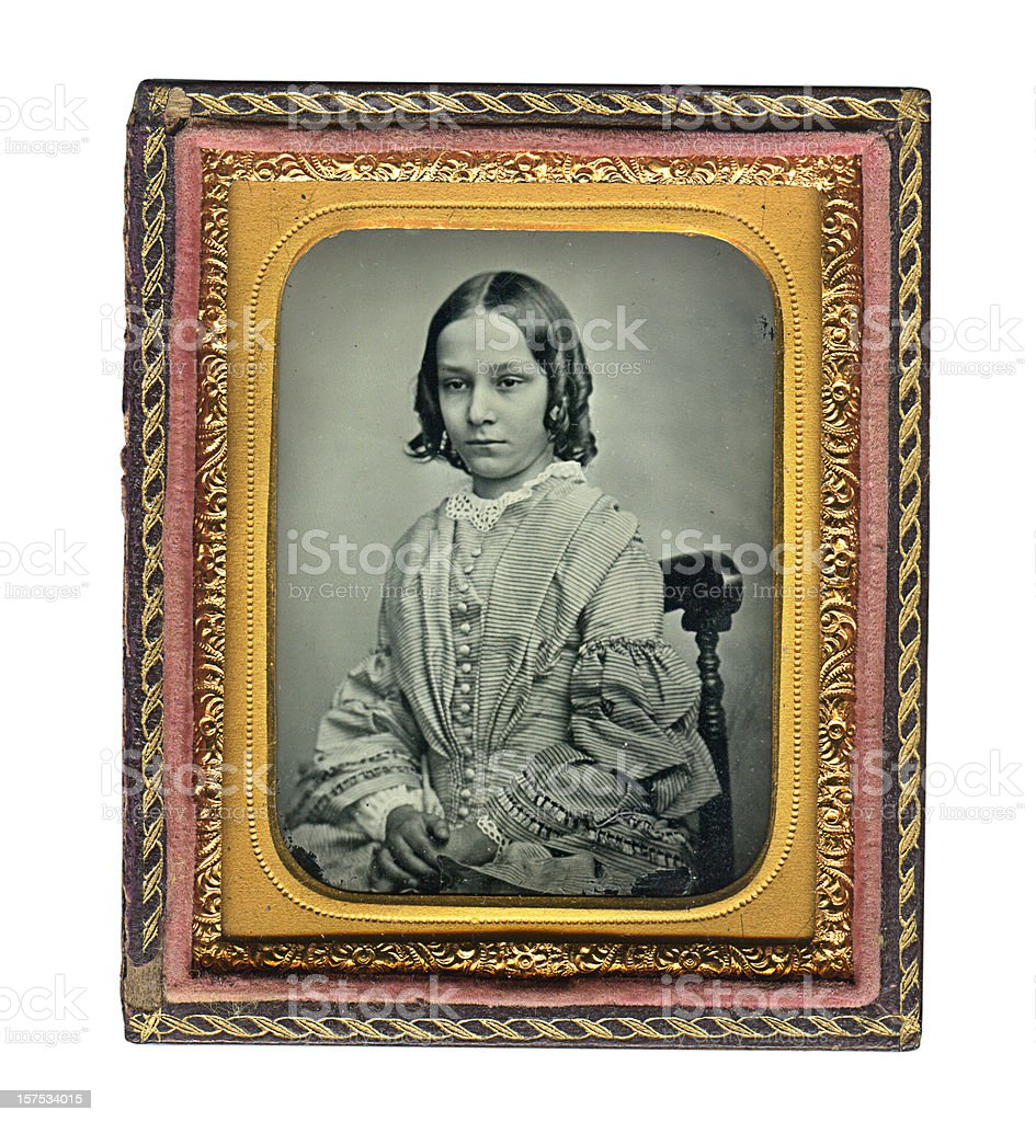 Victorian Girl - Old Ambrotype Photograph royalty-free stock photo
