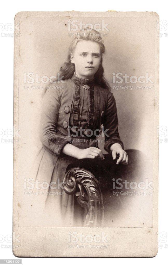 Victorian girl royalty-free stock photo