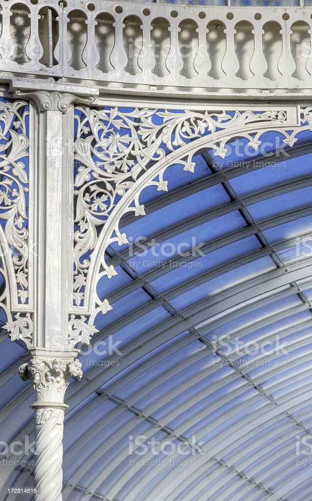 Victorian Glasshouse: The Kibble Palace - Ironwork Detail royalty-free stock photo