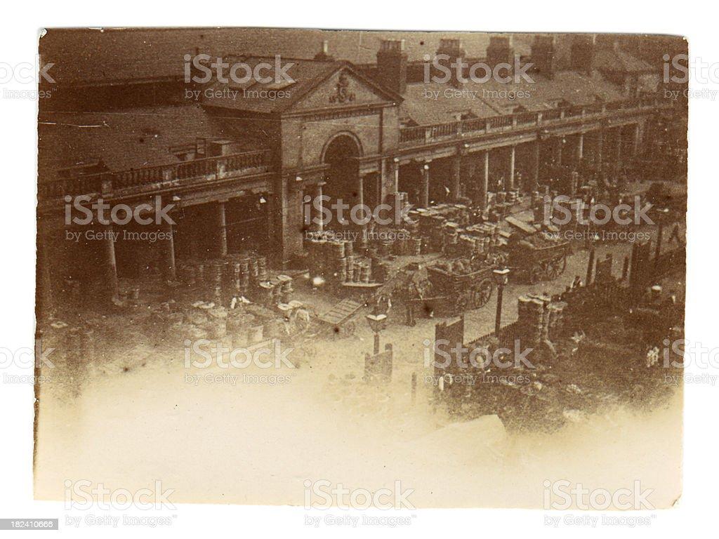 Victorian goodsyard stock photo