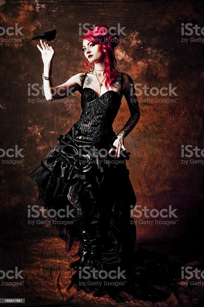 Victorian Gothic Fashion stock photo