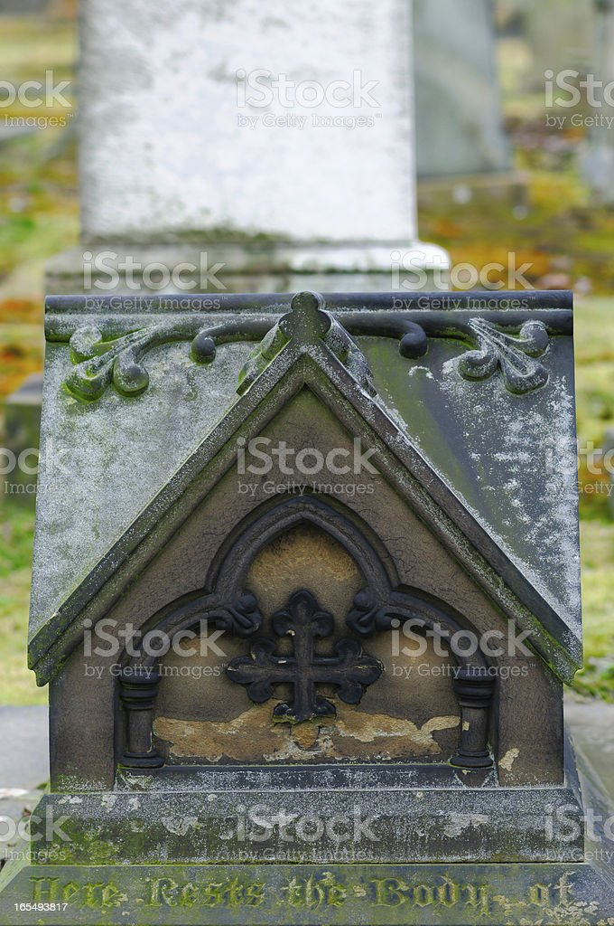 Victorian Grave in a Cemetery royalty-free stock photo