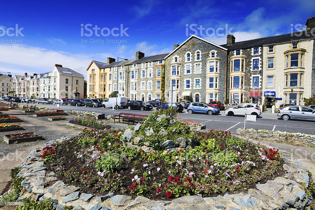 Victorian Guest houses on Marine Promenade. Barmouth, Wales stock photo