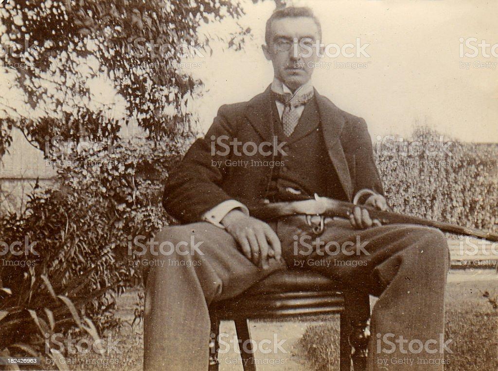 Victorian gunman royalty-free stock photo