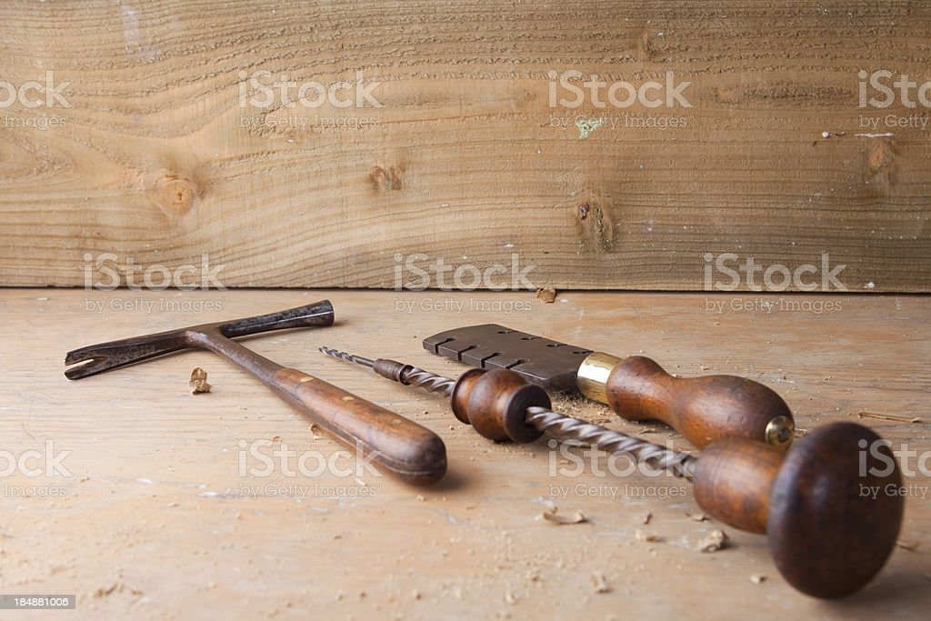 Victorian Hand Tools royalty-free stock photo