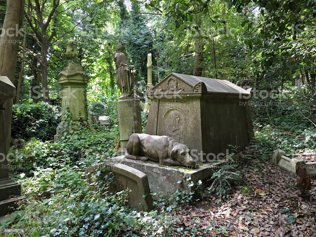 Victorian headstones stock photo