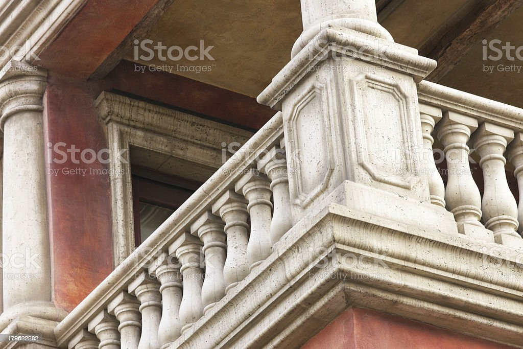 Victorian Home Porch Railing Architecture royalty-free stock photo