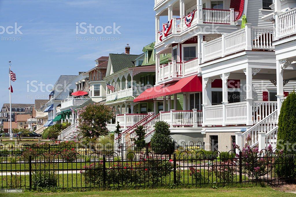 Victorian Homes in Cape May stock photo