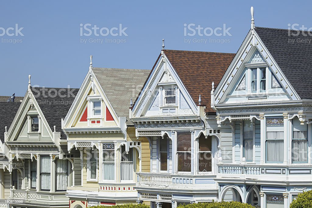 Victorian Homes - San Francisco royalty-free stock photo