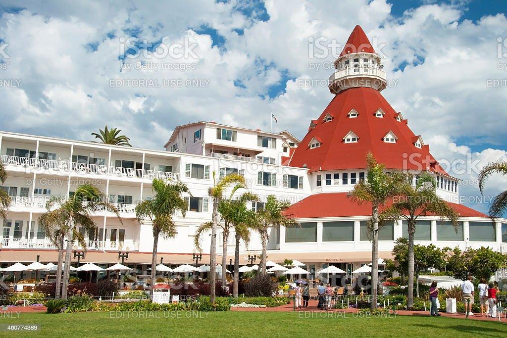 Victorian Hotel del Coronado in San Diego royalty-free stock photo