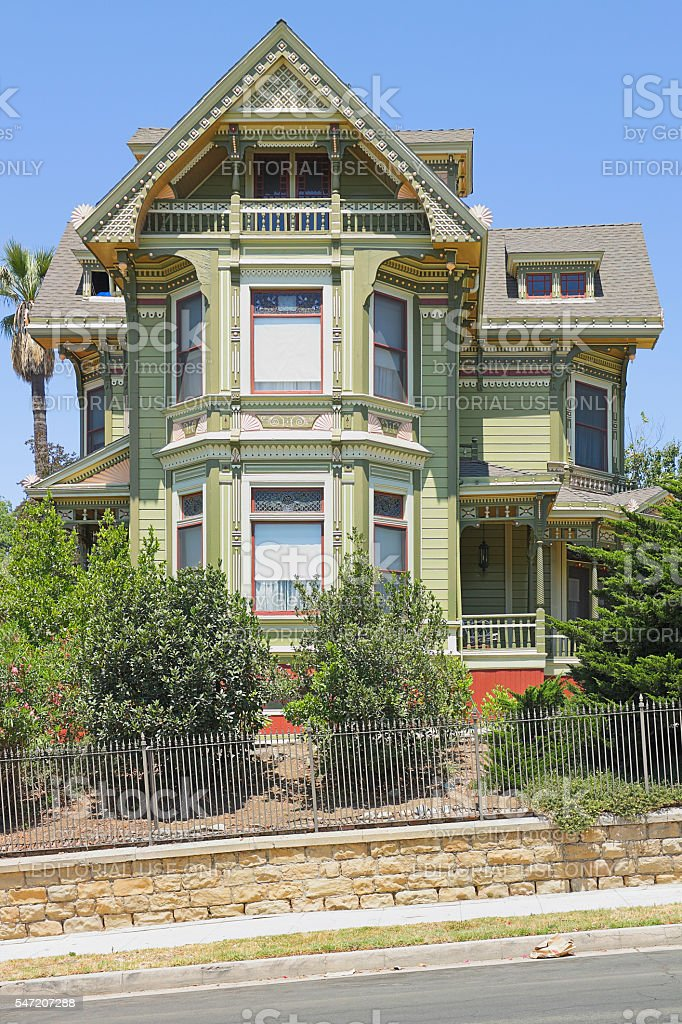 Victorian house - Angelino Heights - Los Angeles stock photo
