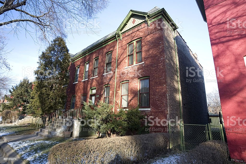 Victorian House in Pullman, Chicago stock photo
