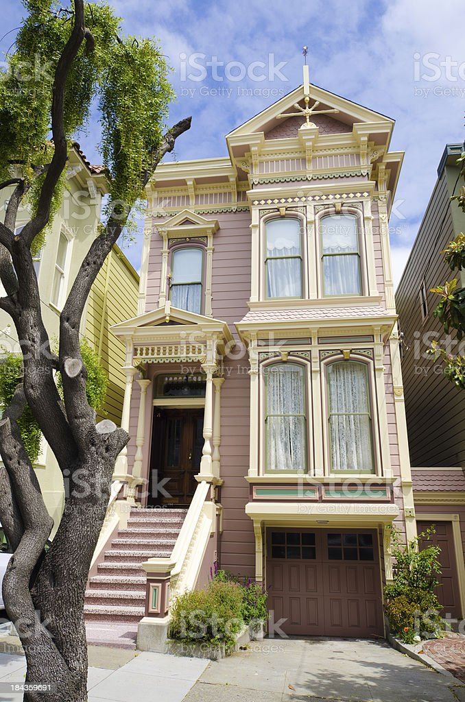 Victorian house in San Francisco, CA stock photo