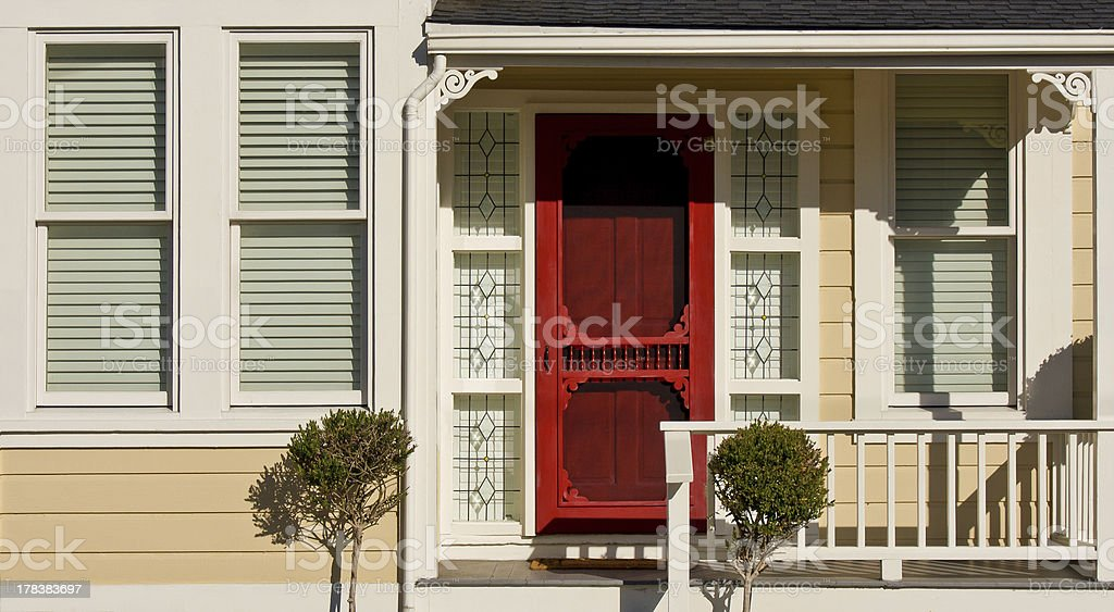 Victorian House - Porch Detail stock photo