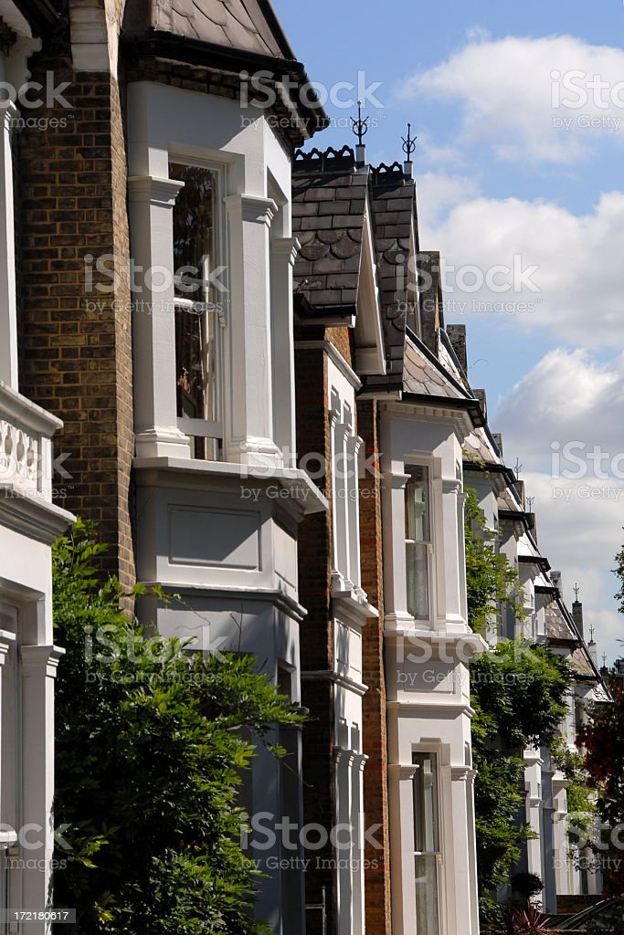 Victorian houses in a beautiful row royalty-free stock photo