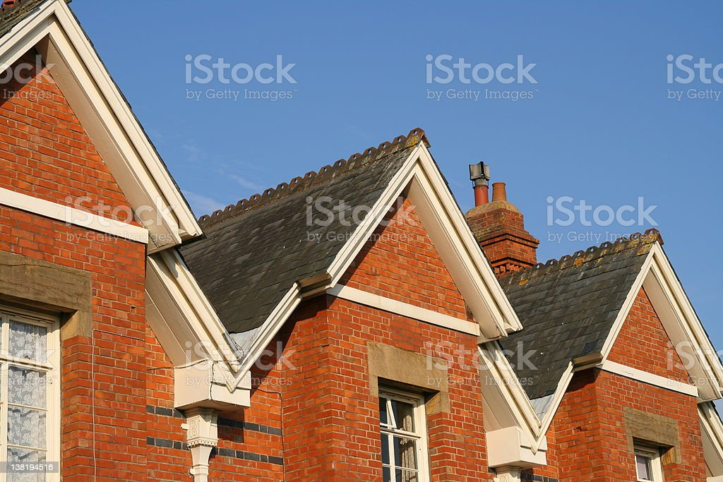 Victorian Houses royalty-free stock photo